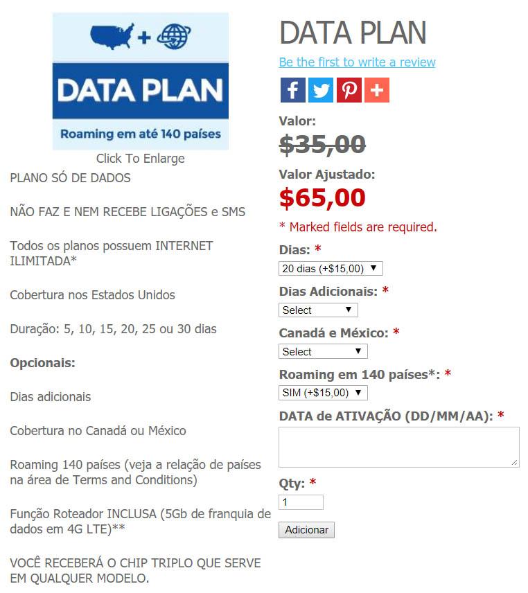 Chip de Internet EasySim4u